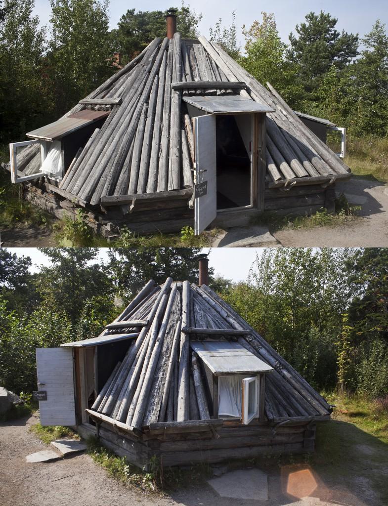 Kaip iš tiesų turėtų atrodyti Kalėdų Senelio sodyba. Nacionalinė samių architektūra